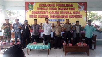 Deklarasi Pilkades Damai Desa Sase'el Sapeken Berjalan Penuh Keakraban