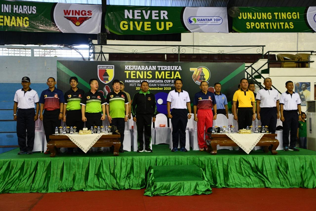 4. Pembukaan Kejuaraan Tenis Meja