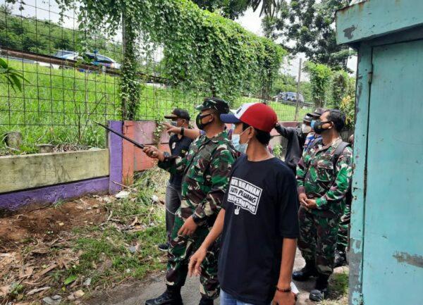 Dandim Surabaya Utara Tinjau Longsor di Area Tol Surabaya-Gempol