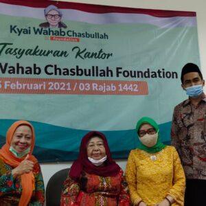 Sejumlah Dzurriyah KH.Abdul Wahab Saksikan Peresmian Kantor KWF di Jakarta
