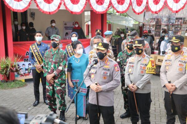 Kunker ke Makassar Kapolri Apresiasi Kampung Tangguh Balla Ewako Sulsel