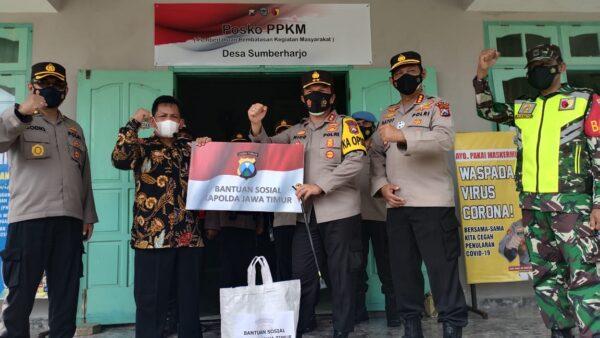 Cek Posko PPKM Sumberharjo Pacitan, Kapolda Jatim: Masyarakat Harus Disiplin Prokes