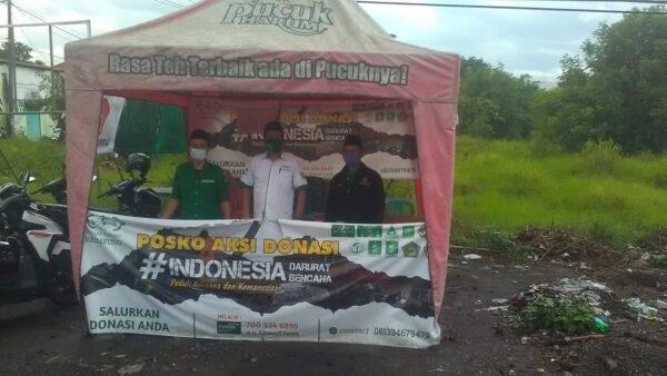 Bersama Banom, MWC NU Galang Dana untuk Korban Bencana Alam