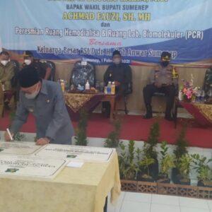 Maksimalkan Pelayanan, Bupati Sumenep Resmikan Lab PCR RSUD dr. H.Moh Anwar