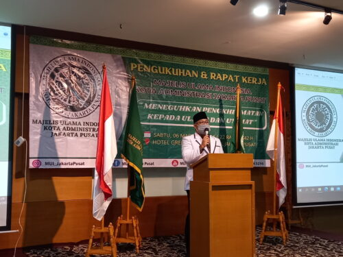 Pengurus MUI Kota Jakarta Pusat Resmi Dikukuhkan