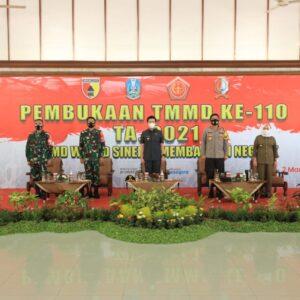 TMMD ke 110 di Bojonegoro Dibuka Forkopimda Jatim