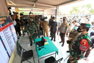 Selain Tinjau Pelaksanaan TMMD ke-110, Forkopimda Jatim Cek PPKM Mikro di Bojonegoro