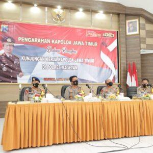 Pengarahan TWT di Polres Magetan, Kapolda Jatim: Pekerjaan Baik, Hasil Pasti Baik