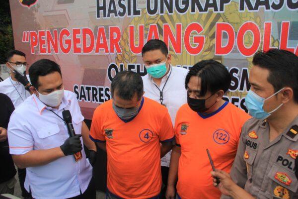 Satreskrim Polrestabes Surabaya Ungkap Peredaran Dolar Palsu