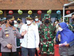Pelaksanaan Vaksinasi di Madiun Dipantau Langsung Panglima TNI, Kapolri serta Menkes