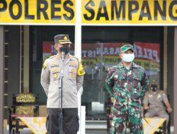 Bantu Ringankan Beban Hidup Masyarakat, Polres dan Kodim Sampang Salurkan 5 Ton Beras dan Paket Sembako
