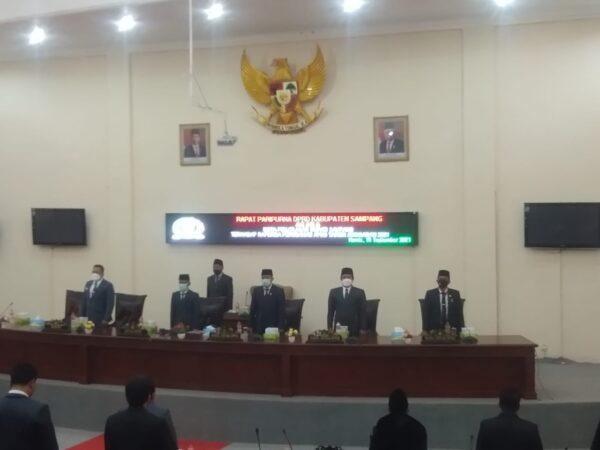 Rapat Paripurna DPRD Kabupaten Sampang Tentang Nota Penjelasan Bupati Terhadap Raperda Perubahan APBD TA 2021