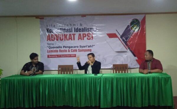 Konsolidasi Idealisme Advokat APSI: Quovadis Pengacara Syari'ah?