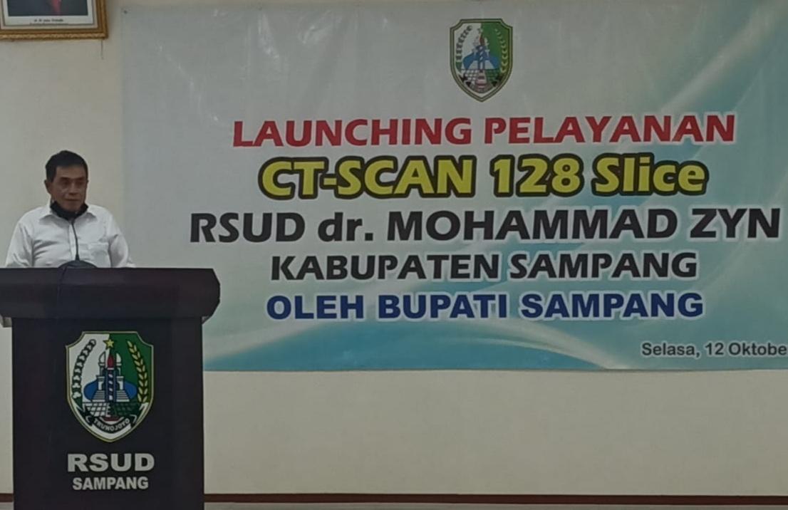 Tambah Fasilitas Layanan, Bupati Sampang Launching CT Scan 128 Slice di RSUDMZ