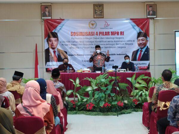 Yayasan Dakau Lamak bersama Anggota MPR RI Gelar Sosialisasi Empat Pilar Kebangsaan
