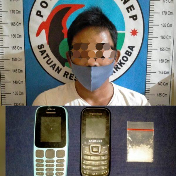Akibat Narkoba, Warga Sampang Ditangkap Satresnarkoba Polres Sumenep